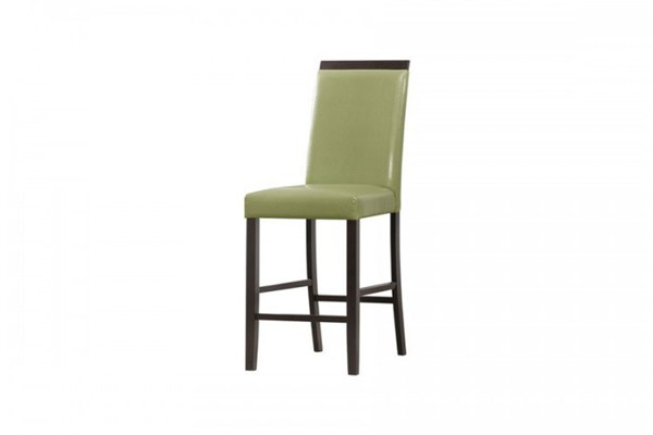 2 Bari Contemporary Lime Wood Bi-Cast Vinyl Counter Height Chairs HE-5114LM-24
