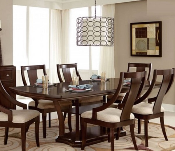 Home Elegance Aubriella Neutral Dining Table HE-5115-92
