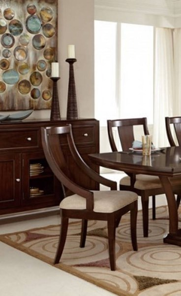 2 Aubriella Modern Neutral Wood Fabric Curved Arms Chairs HE-5115A