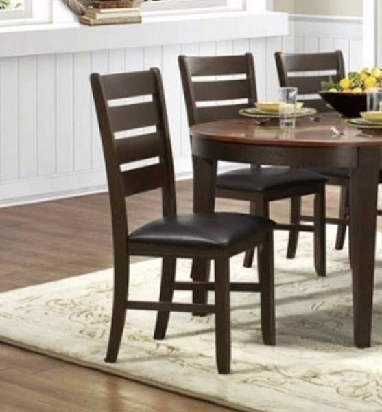 2 Grunwald Classic Dark Brown Wood Bi Cast Vinyl Side Chairs HE-5127S