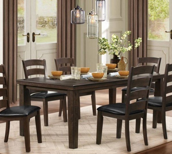 Pacific Grove Classic Brown Wood Dining Table HE-5141GY-80