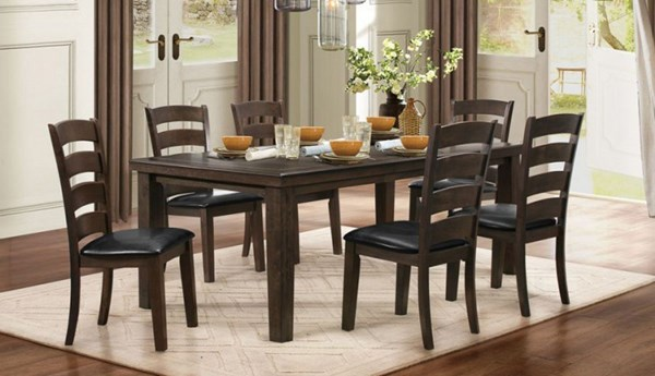 Pacific Grove Classic Brown Wood Dining Room Set HE-5141GY-80-DR