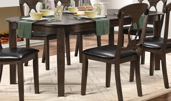 Lemoore Transitional Brown Wood Dining Table HE-5144GY