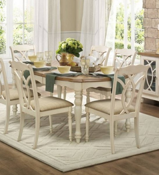 Home Elegance Azalea White Dining Table HE-5145W-78