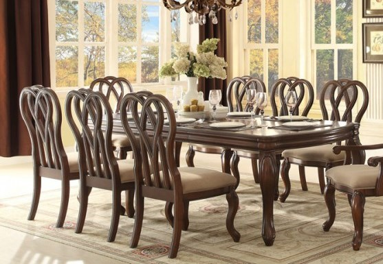 San Anselmo Traditional Cherry Wood Dining Table HE-5146-96
