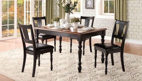 Laurel Grove Traditional Black Cherry Wood Dining Room Set HE-5148-DR