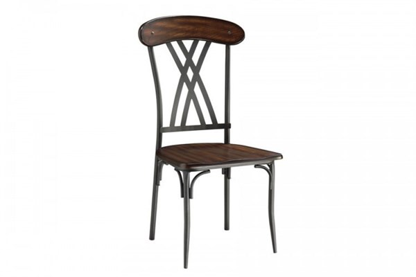 4 Loyalton Traditional Black Wood Metal Side Chairs HE-5149S