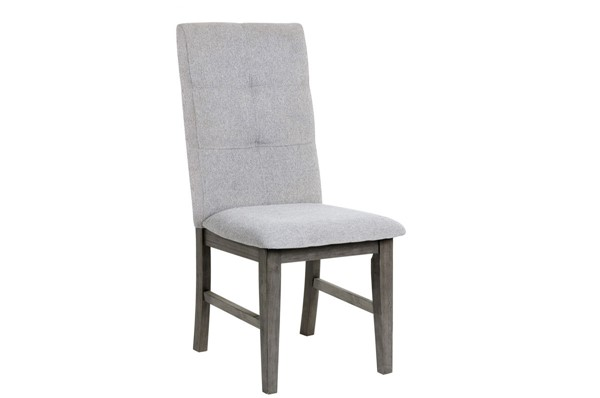 2 Home Elegance University Gray Side Chairs HE-5163S