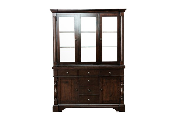 Home Elegance Yates Dark Oak Buffet and Hutch HE-5167-50
