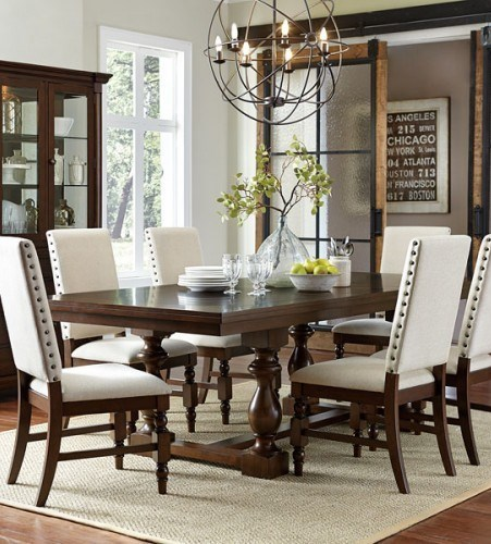 Home Elegance Yates Dark Oak Dining Table HE-5167-96
