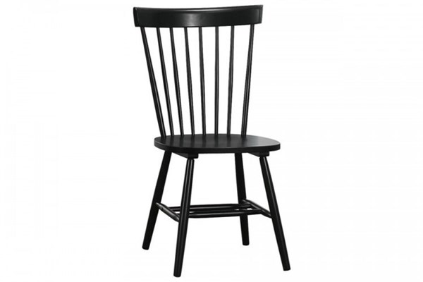 2 April Cottage Black Wood Armless Side Chairs HE-5168-S1BK