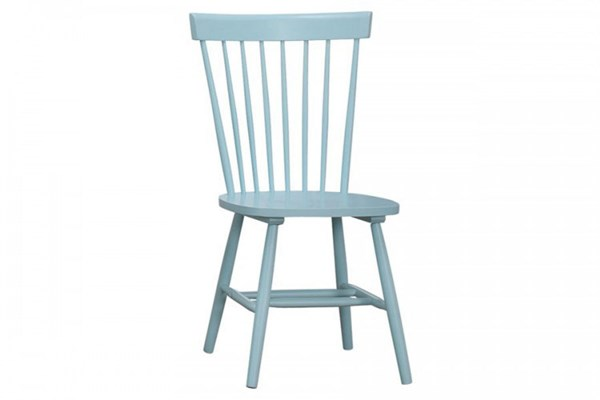 2 April Cottage Pastel Blue Wood Side Chairs HE-5168-S1PB