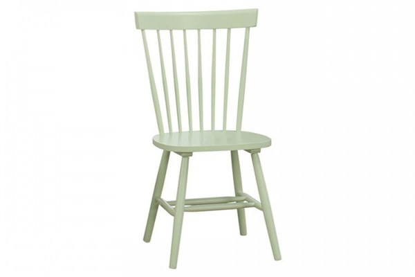 2 April Cottage Pastel Green Wood Side Chairs HE-5168-S1PG