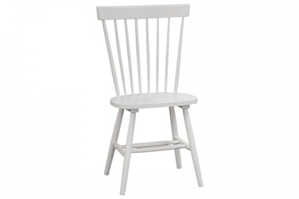 2 April Cottage White Wood Armless Side Chairs HE-5168-S1WT