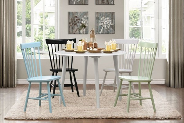 April Cottage White Wood Dining Room Set HE-5168-DR