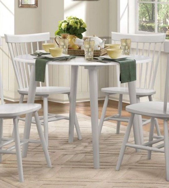 April Cottage White Wood Round Dining Table HE-5168WT-42