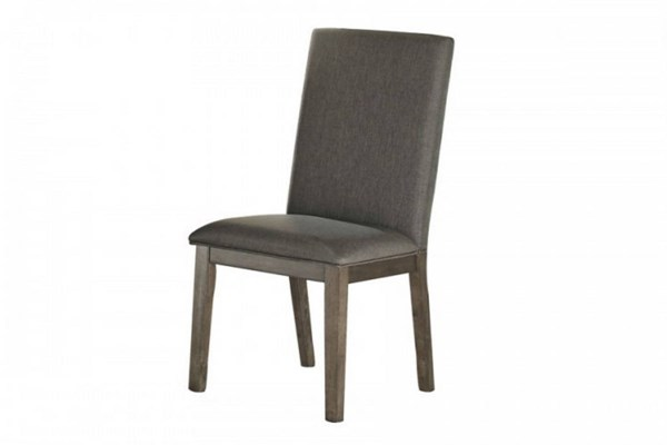 2 Fulton Casual Grey Wood Fabric Side Chairs HE-5169S