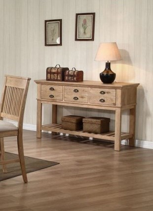 Cadance Transitional Wood Server w/3 Drawers HE-5182-40