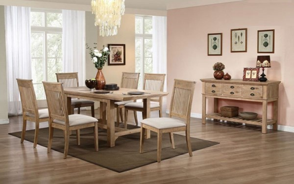 Cadance Transitional Wood Fabric Dining Room Set HE-5182-DR