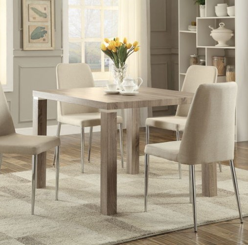 Luzerne Contemporary Wood Solid Top Dining Table HE-5262