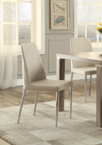 4 Luzerne Contemporary Chrome Fabric Metal Side Chairs HE-5262S