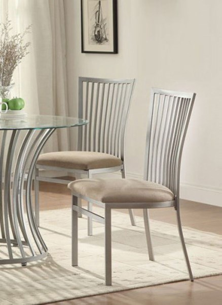 2 Sodus Contemporary Metal Side Slat Back Chairs HE-5265S