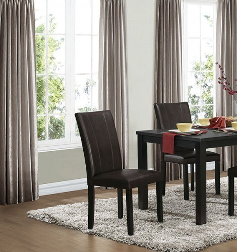 2 Toulon Casual Black Bi-Cast Vinyl Wood Side Chairs HE-5269BKS