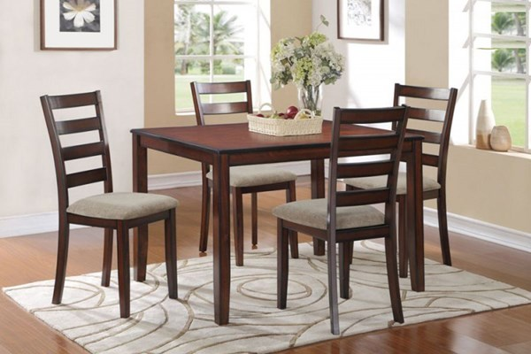 Home Elegance Prospect Cherry 5 Piece Pack Dinette Set HE-5274