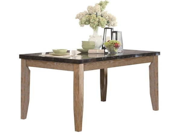 Home Elegance Huron Natural Weathered Dining Table HE-5285-64