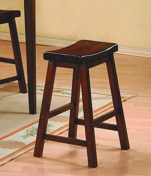 2 Home Elegance Saddleback Cherry Stools HE-5302C-29