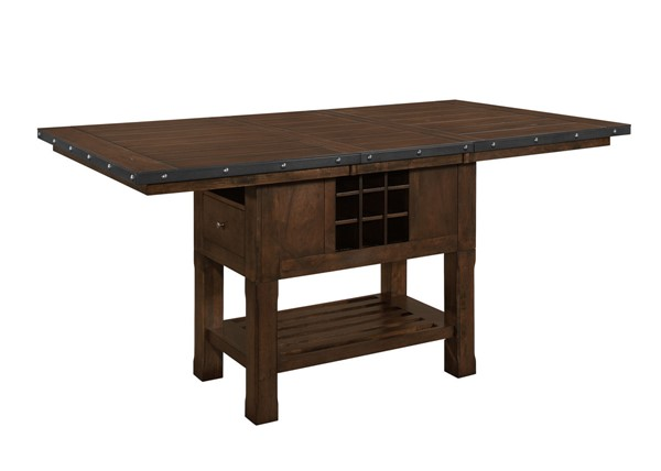 Home Elegance Schleiger Burnished Brown Counter Height Table HE-5400-36XL