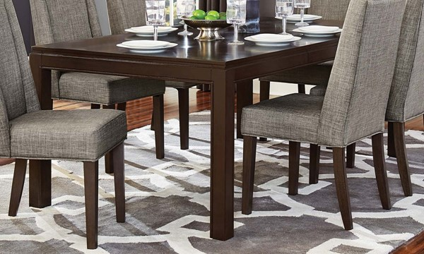 Home Elegance Kavanaugh Dark Brown Dining Table HE-5409-78