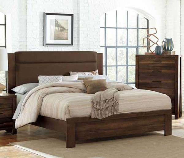 Home Elegance Sedley Walnut Dark Brown Queen Bed HE-5415RF-1