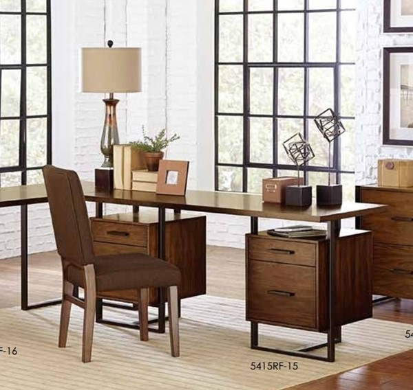 Home Elegance Sedley Walnut Two Cabinets Desk HE-5415RF-15