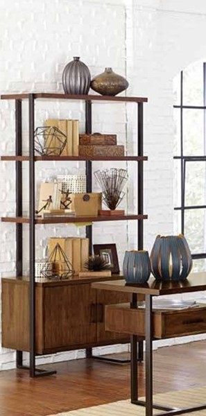 Home Elegance Sedley Walnut Bookcase HE-5415RF-17