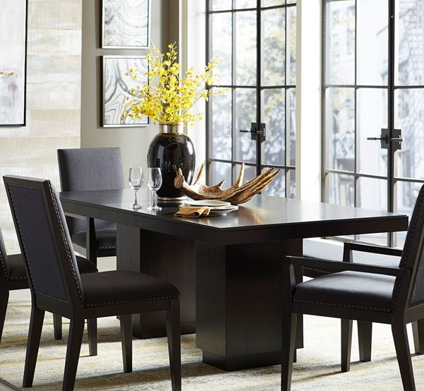 Home Elegance Larchmont Charcoal Dining Table HE-5424-78