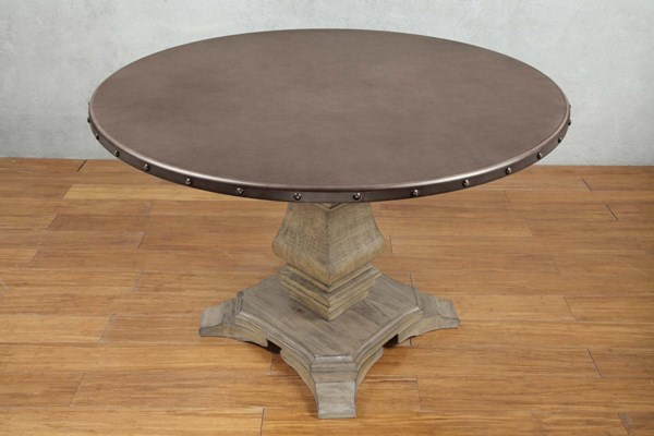 Home Elegance Anna Claire Driftwood Round Dining Table HE-5428-45RD
