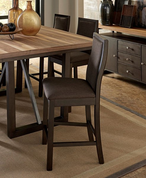 2 Home Elegance Compson Chocolate Brown Counter Height Chairs HE-5431-24