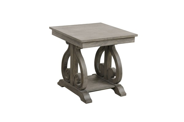 Home Elegance Toulon Wire Brushed End Table HE-5438-04