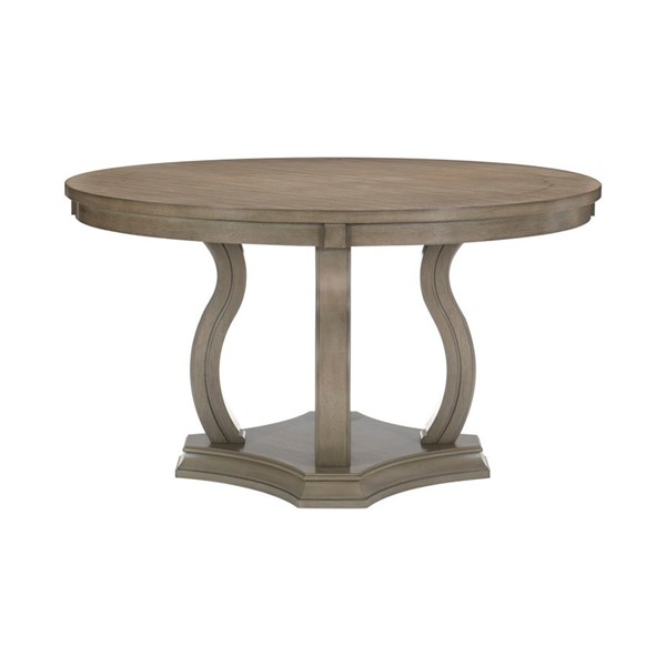 Home Elegance Vermillion Bisque Round Dining Table HE-5442-54