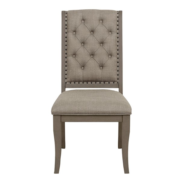 2 Home Elegance Vermillion Bisque Off White Side Chairs HE-5442S
