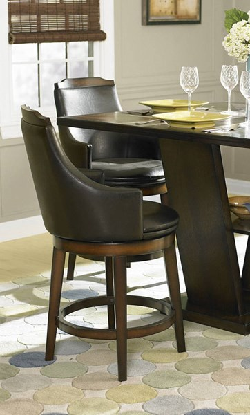 2 Home Elegance Bayshore Counter Height Chairs HE-5447-24S