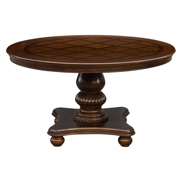 Home Elegance Lordsburg Brown Cherry Round Table HE-5473-54