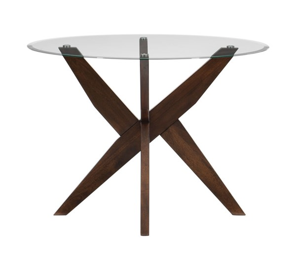 Home Elegance Massey Espresso Round Dining Table HE-5491-42