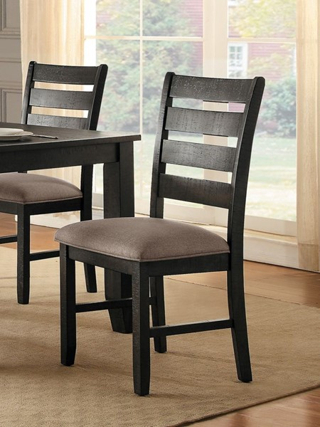 2 Home Elegance Stevensville Neutral Side Chairs HE-5504S
