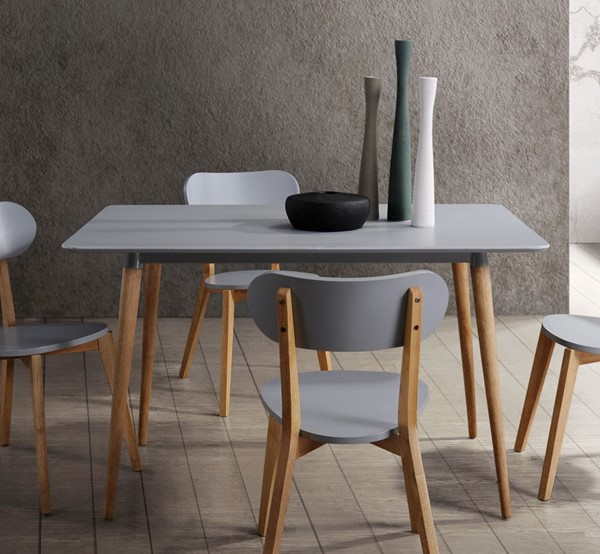 Home Elegance Orpheus Grey Dining Table HE-5515GY