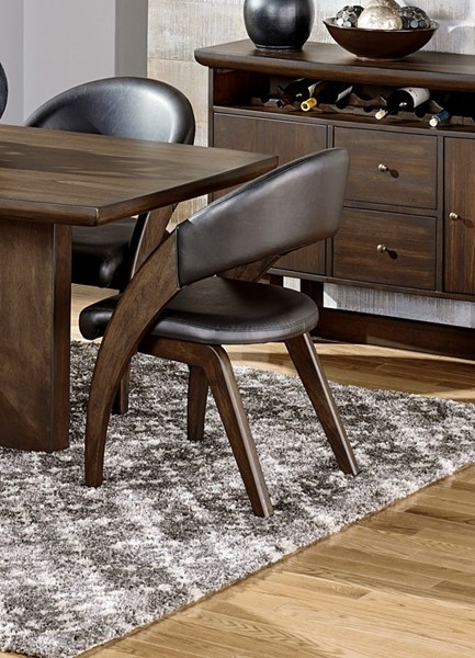 2 Home Elegance Onofre Brown PU Arm Chairs HE-5517A