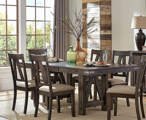 Home Elegance Mattawa Brown Trestle Table HE-5518-78