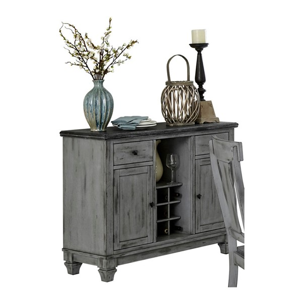 Home Elegance Fulbright Weathered Gray Server HE-5520-40