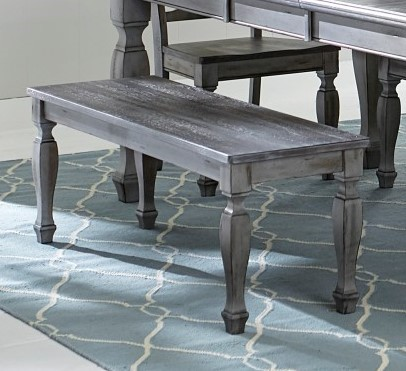 Home Elegance Fulbright Weathered Gray Dining Table HE-5520-78